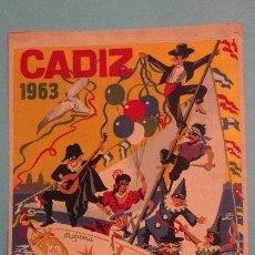 Banderines de colección: ANTIGUO BANDERIN.FIESTAS TIPICAS GADITANAS.CADIZ 1963. Lote 151442030