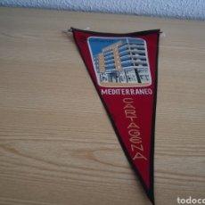 Banderines de colección: BANDERÍN DE LA RESIDENCIA MEDITERRÁNEO DE CARTAGENA. ANTIGUO. Lote 151472090