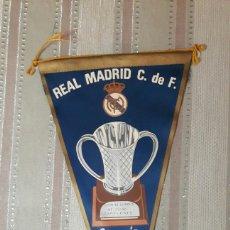 Banderines de colección: BANDERIN REAL MADRID CAMPEÓN DE EUROPA DE BALONCESTO 1964. Lote 151639954