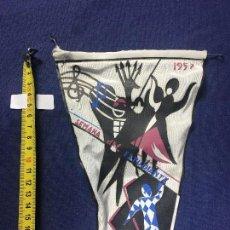 Banderines de colección: BANDERIN SEMANA DEL ESTUDIANTE 1957 20X16CMS. Lote 151854494