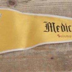 Banderines de colección: EXCELENTE BANDERIN AÑOS 60. UNIVERSIDAD DE SALAMANCA. MEDICINA, 50 CMS. Lote 153945790