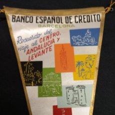 Banderines de colección: BANCO ESPAÑOL DE CREDITO - RECUERDO DEL VIAJE AL CENTRO, ANDALUCIA Y LEVANTE - 1961. Lote 155345174