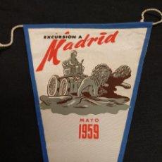 Banderines de colección: BANCO ESPAÑOL DE CREDITO - EXCURSION A MADRID - 1959. Lote 155346882