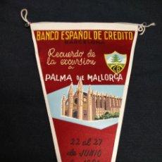 Banderines de colección: BANCO ESPAÑOL DE CREDITO - RECUERDO DE LA EXCURSION A PALMA DE MALLORCA - 1961. Lote 155347286