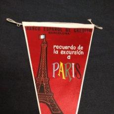 Banderines de colección: BANCO ESPAÑOL DE CREDITO - RECUERDO DE LA EXCURSION A PARIS - 1962. Lote 155351966