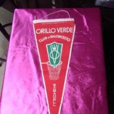 Banderines de colección: BANDERIN CLUB BALONCESTO ORILLO VERDE SABADELL. Lote 158672458