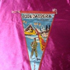 Banderines de colección: PRECIOSO BANDERIN JURA DE BANDERA EL ROBLEDO AÑO 1960. Lote 158673558