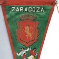 Banderines de colección: BANDERÍN EN TELA ZARAGOZA. Lote 159767370