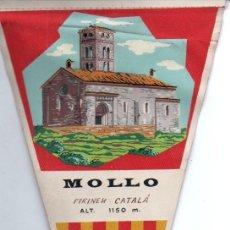 Banderines de colección: BANDERÍN EN TELA MOLLÓ PIRINEU CATALÁ. Lote 159768046