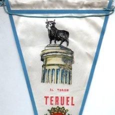 Banderines de colección: BANDERÍN EN TELA EL TORICO TERUEL. Lote 159768086