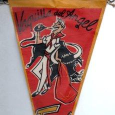 Banderines de colección: BANDERÍN EN TELA VAQUILLA DEL ÁNGEL TERUEL. Lote 159768222