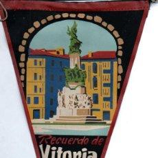 Banderines de colección: BANDERÍN EN TELA VITORIA. Lote 159768542
