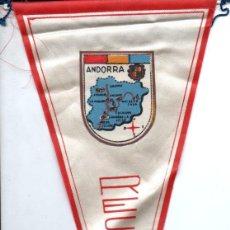 Banderines de colección: BANDERÍN EN TELA ANDORRA. Lote 159769490