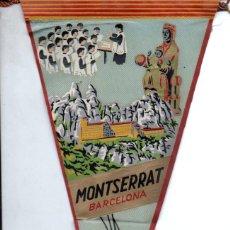 Banderines de colección: BANDERÍN EN TELA MONTSERRAT. Lote 159769550