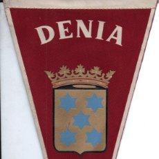 Banderines de colección: BANDERÍN EN TELA DENIA. Lote 159770150