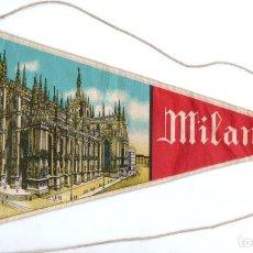 Banderines de colección: BANDERÍN EN TELA MILANO. Lote 159770438