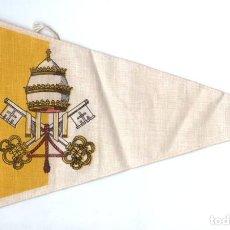 Banderines de colección: BANDERÍN EN TELA CIUDAD DEL VATICANO. Lote 159770666