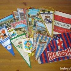 Banderines de colección: LOTE DE 28 BANDERINES. CIUDADES, FUTBOL, PUBLICITARIOS - AÑOS 60 - 70. Lote 166182730