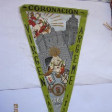 Bandierine di collezione: ANTIGUO BANDERIN CORONACION VIRGEN ARGEME MAYO 1956. Lote 166336334