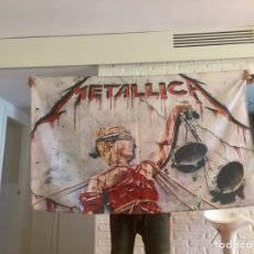 Banderines de colección: BANDERA METALLICA. HEAVY METAL AND JUSTICE FOR ALL. Lote 166706621