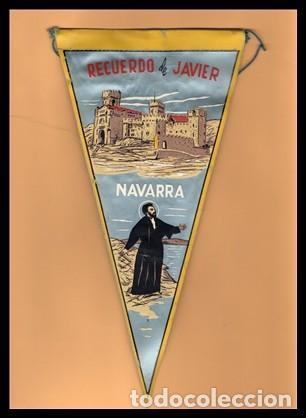 BANDERIN, NAVARRA, RECUERDO DE JAVIER. (Coleccionismo - Banderines)