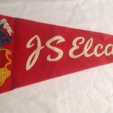 Banderines de colección: ANTIGUO BANDERIN DE FIELTRO DEL BUQUE J.S. ELCANO, MEDIDA 47 CM. APROXIMADAMENTE. Lote 167746388
