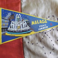 Banderines de colección: BANDERINES-V39-ANTIGUO-26X14CM-ESPAÑA-ANDALUCIA-MALAGA-FUENTE LUMINOSA. Lote 168946392