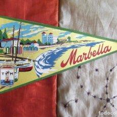 Banderines de colección: BANDERINES-V39-ANTIGUO-26X14CM-ESPAÑA-ANDALUCIA-MALAGA-MARBELLA. Lote 168947416