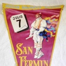 Banderines de colección: ANTIGUO BANDERÍN - HOGAR NAVARRO, MADRID / 7 JULIO, SAN FERMÍN. Lote 169020768