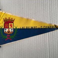 Banderines de colección: BANDERIN DE LAS PALMAS DE GRAN CANARIA AÑOS 60. Lote 169239384