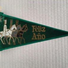 Banderines de colección: BANDERIN DE FELIZ AÑO AÑOS 60. Lote 169239456
