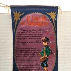 Bandierine di collezione: BANDERIN FELICES FIESTAS CANCION TAMBORILERO AÑOS 60. Lote 169239508