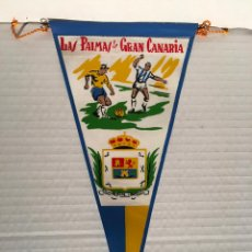 Banderines de colección: BANDERIN DE LAS PALMAS DE GRAN CANARIA AÑOS 60. Lote 169239540
