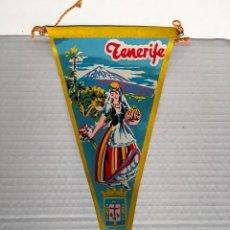 Banderines de colección: BANDERIN DE TENERIFE AÑOS 60. Lote 169239588