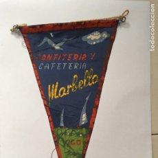 Bandierine di collezione: ANTIGUO BANDERÍN HELADERÍA MARBELLA VIGO. Lote 169475202