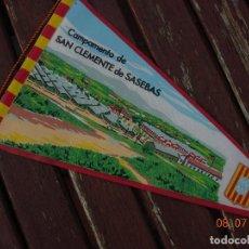 Banderines de colección: BANDERIN RECUERDO MI JURA DE BANDERA SANT CLIMENT SESCEBES SASEBAS. Lote 170468516
