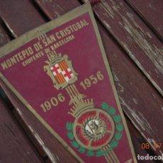Banderines de colección: BANDERIN MONTEPIO SAN CRISTOBAL CHOFERES DE BARCELONA 1906 1956. Lote 170468700