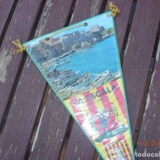 Banderines de colección: BANDERIN L'ESCALA COSTA BRAVA LA ESCALA SARDANAS. Lote 170899355
