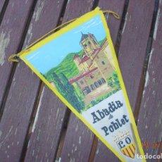 Banderines de colección: BANDERIN ABADIA DE POBLET TARRAGONA. Lote 170899770