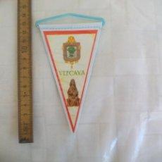 Banderines de colección: ANTIGUO BANDERÍN DE VIZCAYA, AÑOS 60-70. Lote 170937075