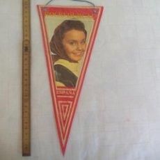 Banderines de colección: ANTIGUO BANDERÍN DE ROCIO DURCAL, AÑOS 60-70. Lote 170937810
