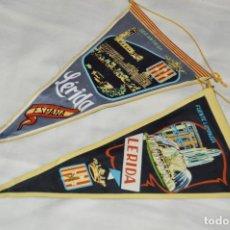 Banderines de colección: VINTAGE - LOTE 2 BANDERINES - LÉRIDA - FUENTE LUMINOSA / SEO ANTIGUA - AÑOS 60 - HAZ OFERTA!. Lote 171026630