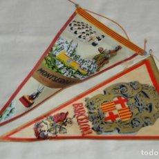 Banderines de colección: VINTAGE - LOTE 2 BANDERINES - BARCELONA / MONTSERRAT - PRECIOSOS - AÑOS 60 - HAZ OFERTA!. Lote 171026797