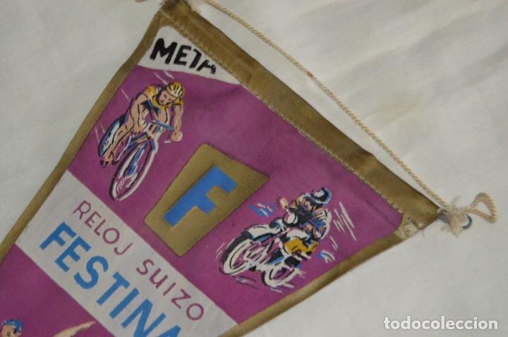 Banderines de colección: ANTIGUO BANDERÍN - RELOJ SUIZO FESTINA - CRONOMETRADOR OFICIAL - VINTAGE - AÑOS 60 - HAZ OFERTA - Foto 2 - 171027638