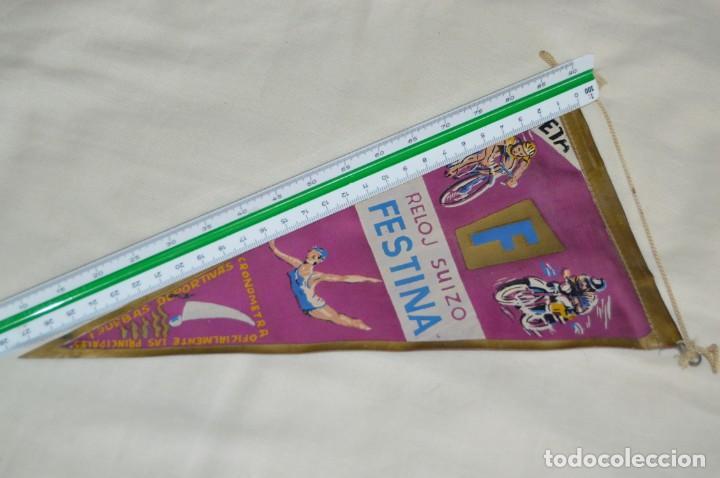 Banderines de colección: ANTIGUO BANDERÍN - RELOJ SUIZO FESTINA - CRONOMETRADOR OFICIAL - VINTAGE - AÑOS 60 - HAZ OFERTA - Foto 6 - 171027638