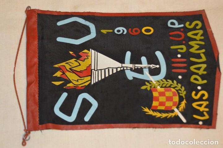 VINTAGE - AÑOS 60 / ANTIGUO BANDERÍN - SEU / III JORNADAS UNIVERSITARIAS LAS PALMAS / S.E.U. (Coleccionismo - Banderines)