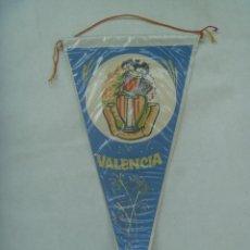 Banderines de colección: BANDERIN DE VALENCIA : COMISION DE FALLA PLAZA DEL PILAR Y ADYACENTES. AÑOS 50 - 60. Lote 171828390