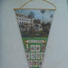Banderines de colección: BANDERIN TURISTICO DE JEREZ DE LA FRONTERA ( CADIZ ) . AÑOS 60. CON AGUILA DE SAN JUAN - FRANCO. Lote 172453304