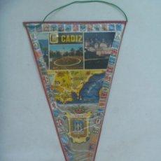 Banderines de colección: BANDERIN TURISTICO DE CADIZ . AÑOS 60.. Lote 172465060