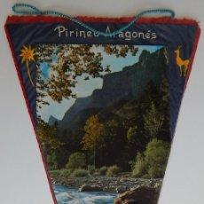 Banderines de colección: ANTIGUO BANDERÍN / PIRINEO ARAGONÉS - HUESCA - RECUERDO DE ORDESA. Lote 172829039